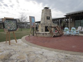 Oil Painting, Quilt, Sandbox, Chairs
