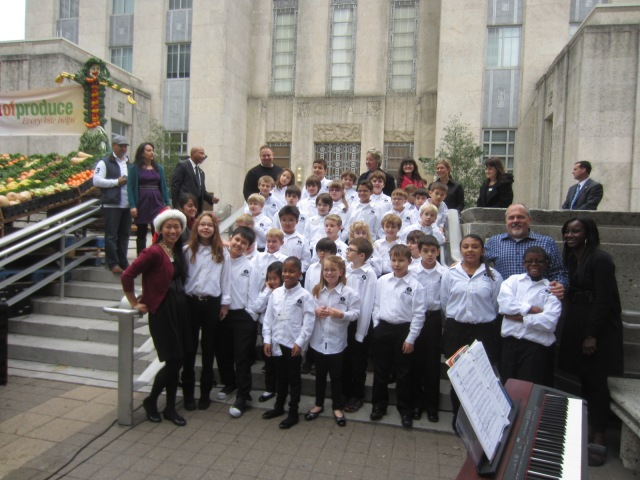 The Parish School Choir and Mayor Annise Parker