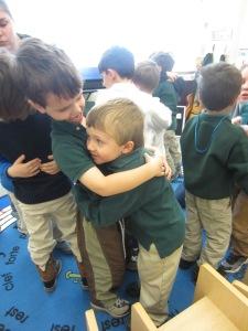 B. & P. Monkeys Valentine's Hugs