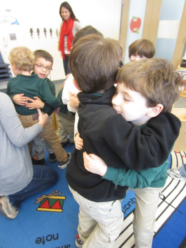 Monkeys Valentine's Hugs