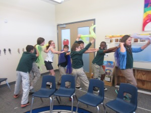 Explorers African Inspired Scarf Dance