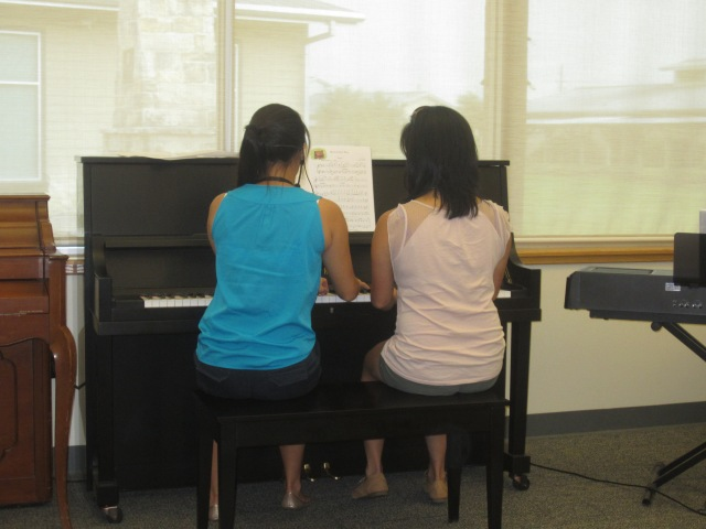 Hilary and Candice Piano