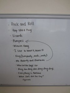 Squirrels Song List