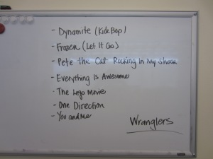 Wranglers Song List